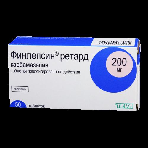 Финлепсин ретард таблетки 200мг №50