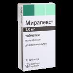 Мирапекс таблетки 1мг №30