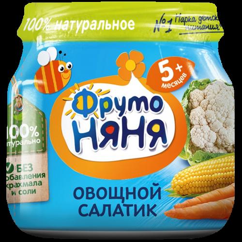 ФрутоНяня Пюре овощной салатик 80г