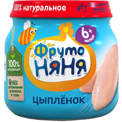 ФрутоНяня Пюре цыпленка 80г СТ