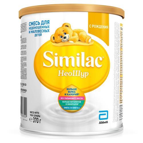 Симилак Неошур Смесь молочная для маловесных и недоношенных детей 370г