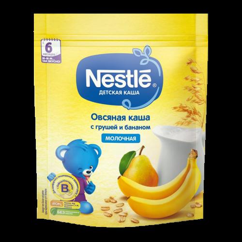 Нестле Каша молочная Овсяная с грушей и бананом 220г