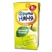 ФрутоНяня Сок яблоко/неосветленное 200мл