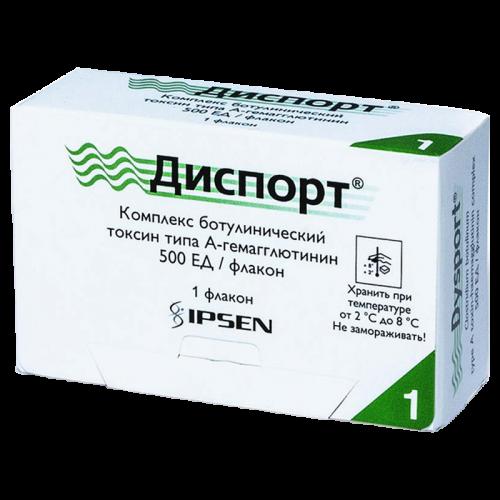Диспорт лиофилизат для приготовления раствора для инъекций 500ЕД №1