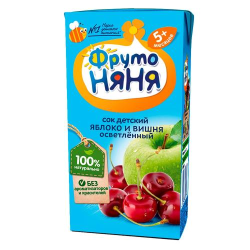 ФрутоНяня Сок яблоко/вишня/осветленный 200мл