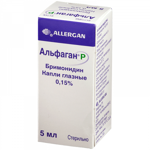 Альфаган Р глазные капли 0.15% фл. 5мл