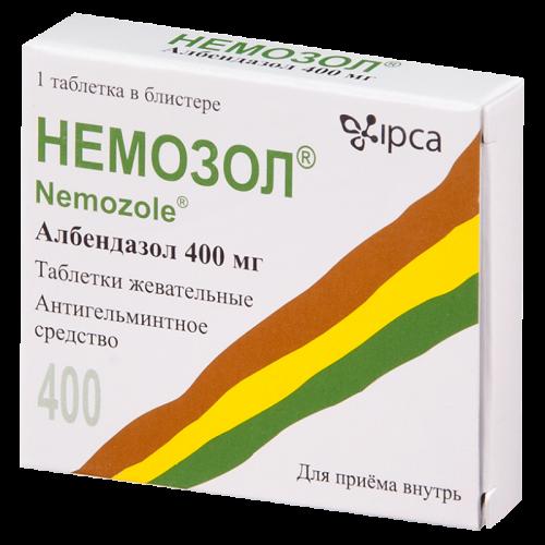 Немозол таблетки жевательные 400мг №1
