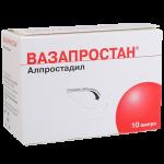 Вазапростан лиофилизат для приготовления раствора для инъекций 20мкг ампулы №10