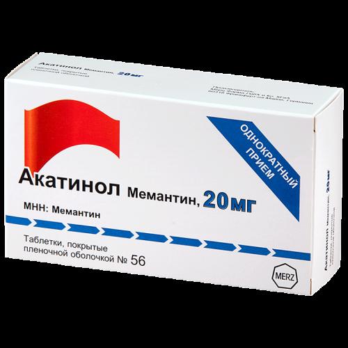 Акатинол мемантин таблетки 20мг №56