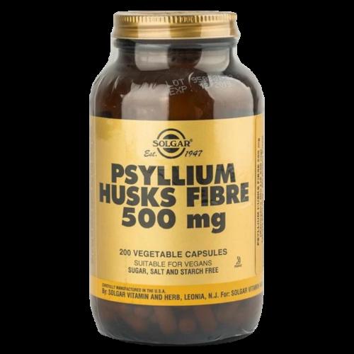 Солгар Псиллиум, клетчатка кожицы листа подорожника, капсулы 500 мг №200
