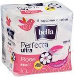 Белла Прокладки Перфекта ультра роза №10 с крылышками