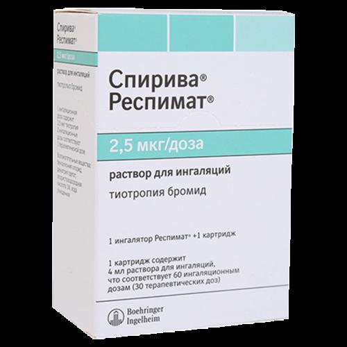 Спирива респимат р-р д/инг.картридж 2,5мкг/доз 4мл 60доз