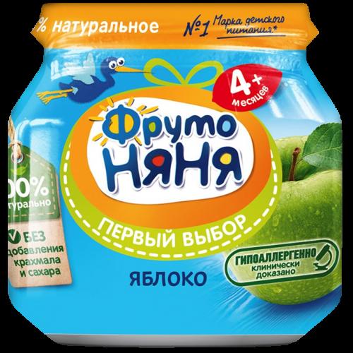 ФрутоНяня Пюре яблоко натуральное 100г
