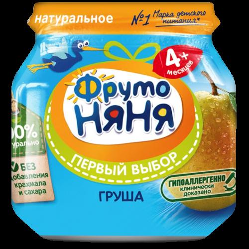 ФрутоНяня Пюре Груша натуральная 100г