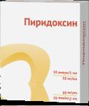Пиридоксин р-р 5% амп. 1мл №10 Витамин В6