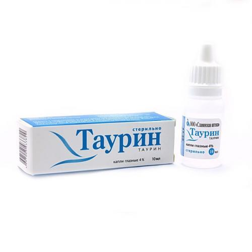 Таурин глазные капли 4% фл. 10мл