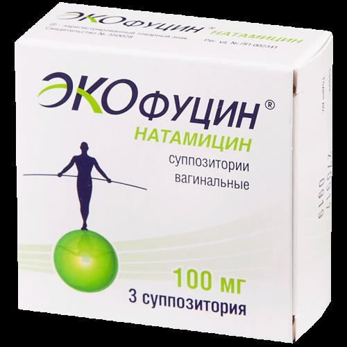 Экофуцин суппозитории вагинальные100мг  №3