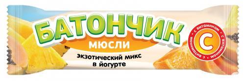 Батончик-мюсли Экзотический микс в йогурте 25г