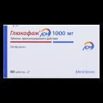 Глюкофаж лонг таблетки 1000мг №60