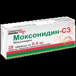 Моксонидин таблетки 0,4мг №28