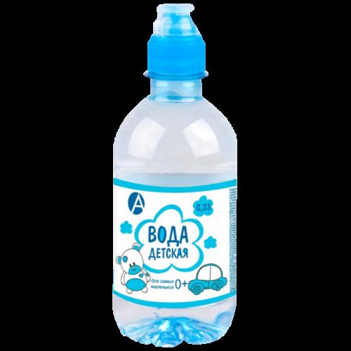 Вода питьевая детская 0,33л голубая