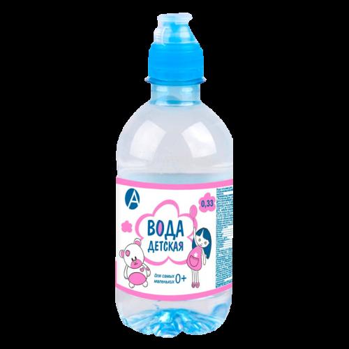 Вода питьевая детская 0,33л розовая