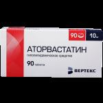 Аторвастатин таблетки 10мг №90