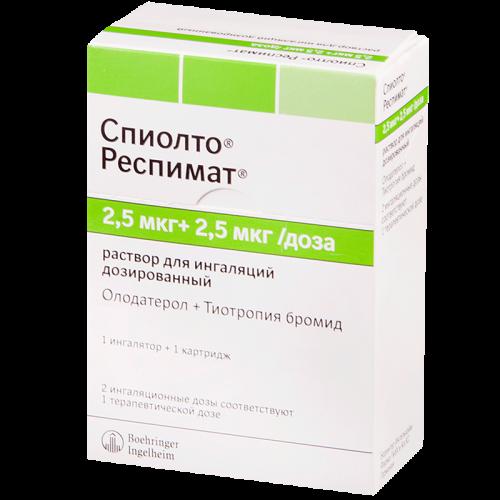Спиолто респимат раствор для ингаляций 2,5мкг+2,5мкг/доз 4мл