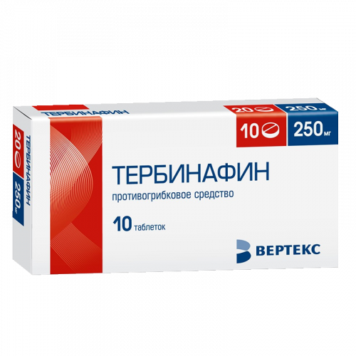 Тербинафин-Вертекс таблетки 250мг №10