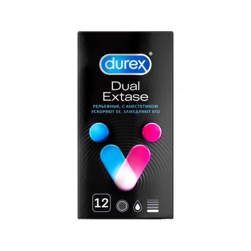 Презервативы Дюрекс Dual Extase №12