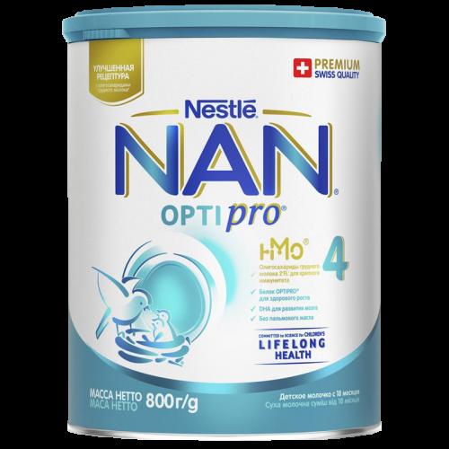 Нестле Нан 4 Оптипро детское молоко 800г