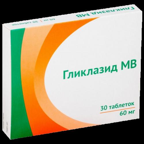 Гликлазид МВ таблетки 60 мг №30