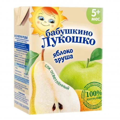 Бабушкино Лукошко Сок яблоко/груша осветленный 200г