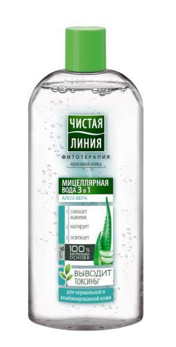 Чистая Линия Мицелярная вода 3 в1 для нормальной/комбинированной кожи 400мл