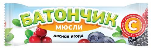 Батончик-мюсли Лесная ягода с витамином С 25г
