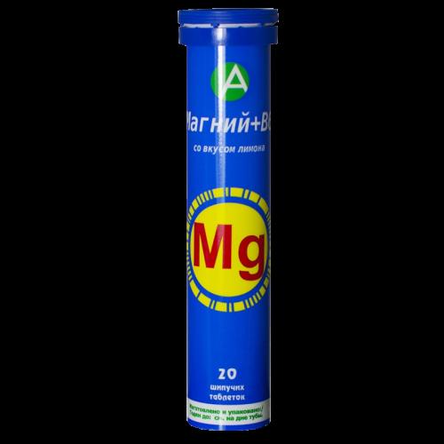 Магний+Вит.В6 таблетки шипучие №20