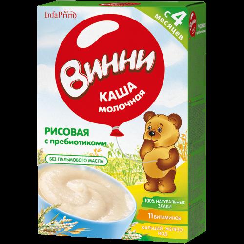 Винни Каша молочная Рисовая с пребиотиками 200г