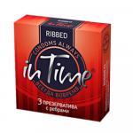 Презервативы Интайм с ребрами Ribbed №3