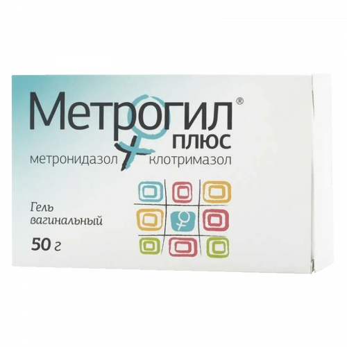 Метрогил Плюс гель вагинальный 50г+ аппликатор №10