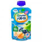 ФрутоНяня Десерт яблоко/черника/печенье 90г