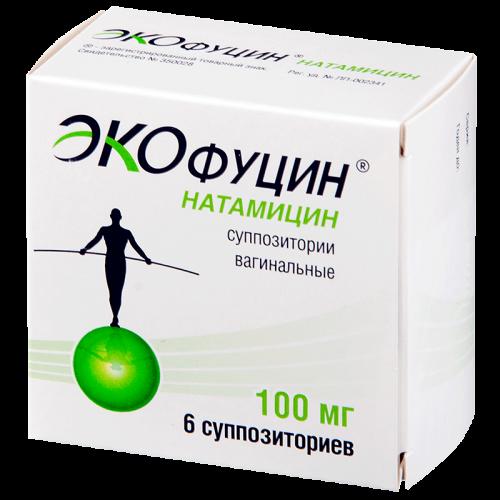 Экофуцин суппозитории вагинальные 100мг №6