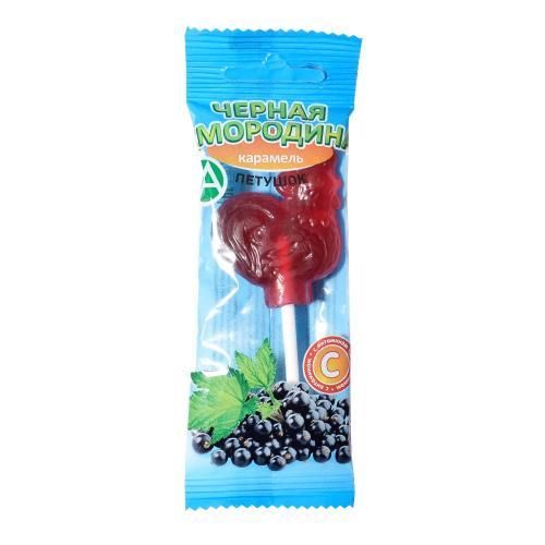 Леденец Петушок с витамином С со вкусом черной смородины 17г