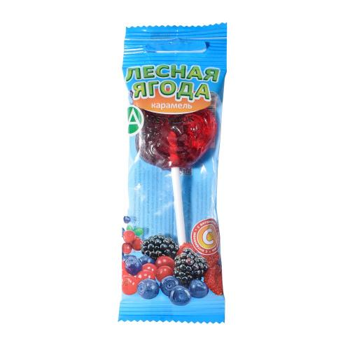 Леденец Петушок с витамином С со вкусом лесных ягод 17г