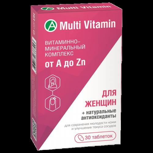Витаминно-минеральный комплекс для женщин от A до Zn таблетки №30
