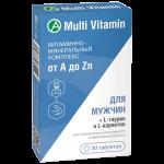 Витаминно-минеральный комплекс для мужчин от A до Zn таблетки №30