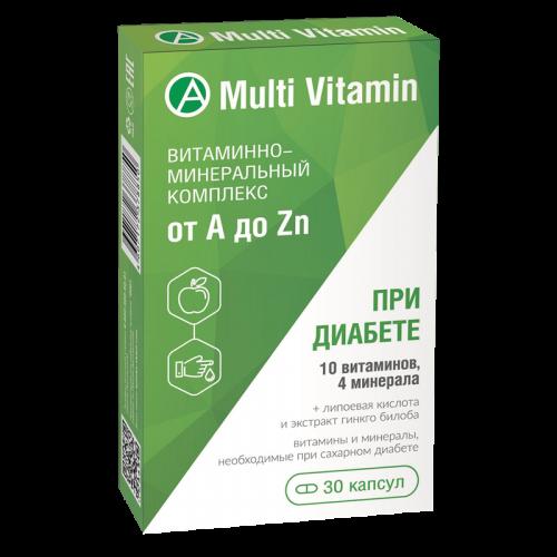 Витаминно-минеральный комплекс от A до Zn при диабете капсулы №30