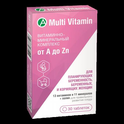 Витаминно-минеральный комплекс от A до Zn для планирующих беременность, беременных и кормящих женщин таблетки №30