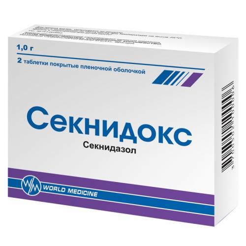 Секнидокс таблетки 1г №2