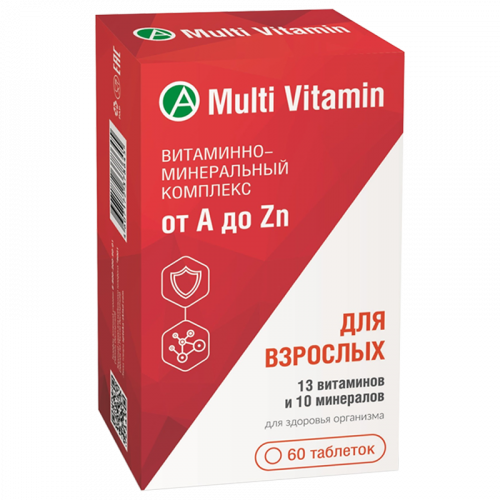 Витаминно-минеральный комплекс от A до Zn таблетки №60