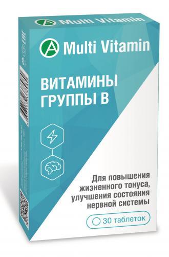 Витамины группы В таблетки №30